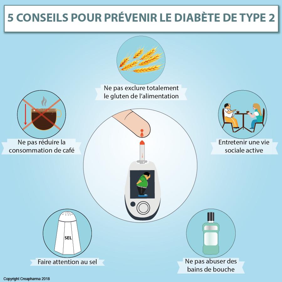 5 conseils pour prévenir le diabète de type 2 | Creapharma