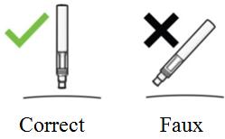 Cosentyx® SensoReady® tenir correctement le stylo